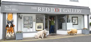 The New Red Dot Gallery, in the centre of Holt, Norfolk