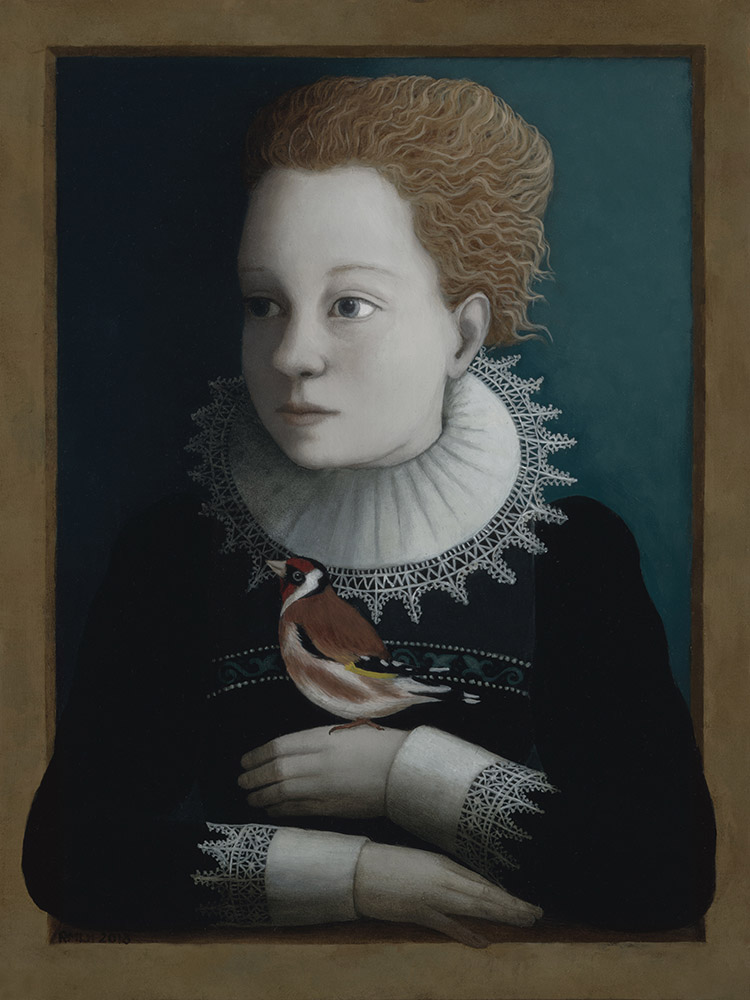 Girl with Finch