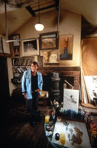 Robert Heindel in his studio (Easton Ct)