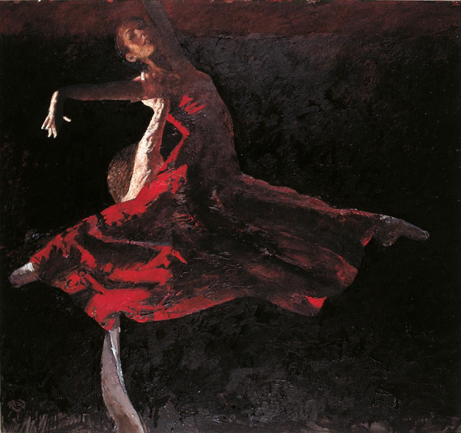 Robert Heindel painting of Birmingham Royal ballet