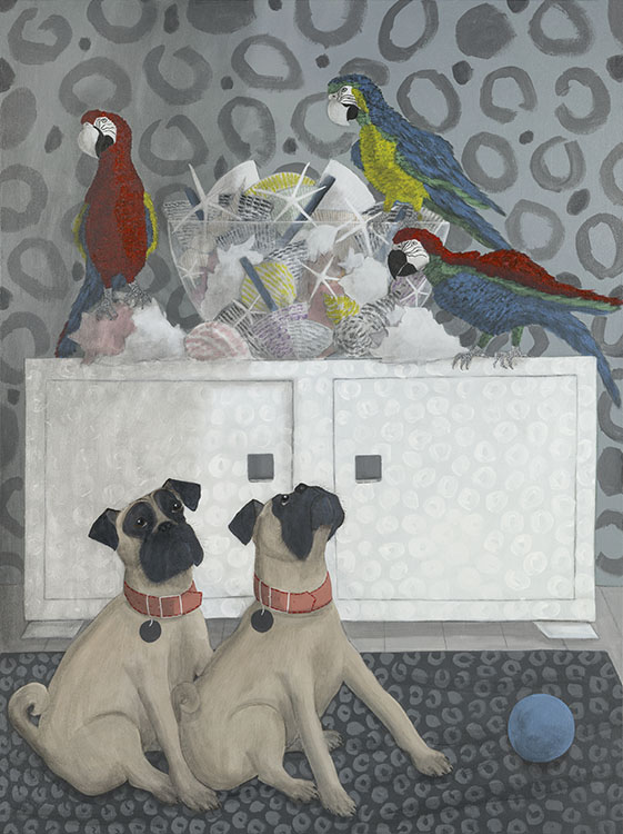 Pugandparrots unlikelytomakeittoCrufts