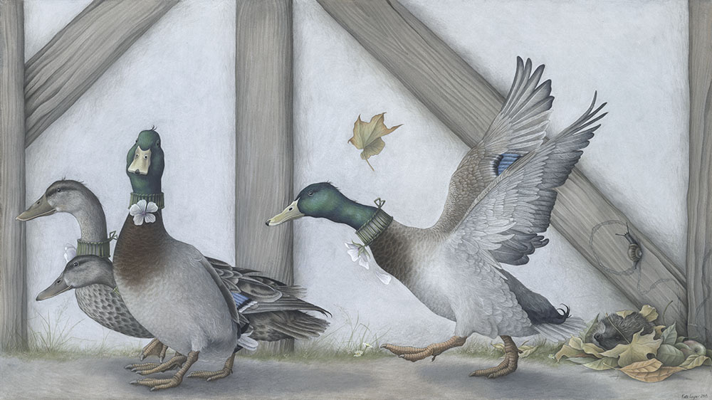 Find the hedgehog...Mallard Ducks by Kate Leiper