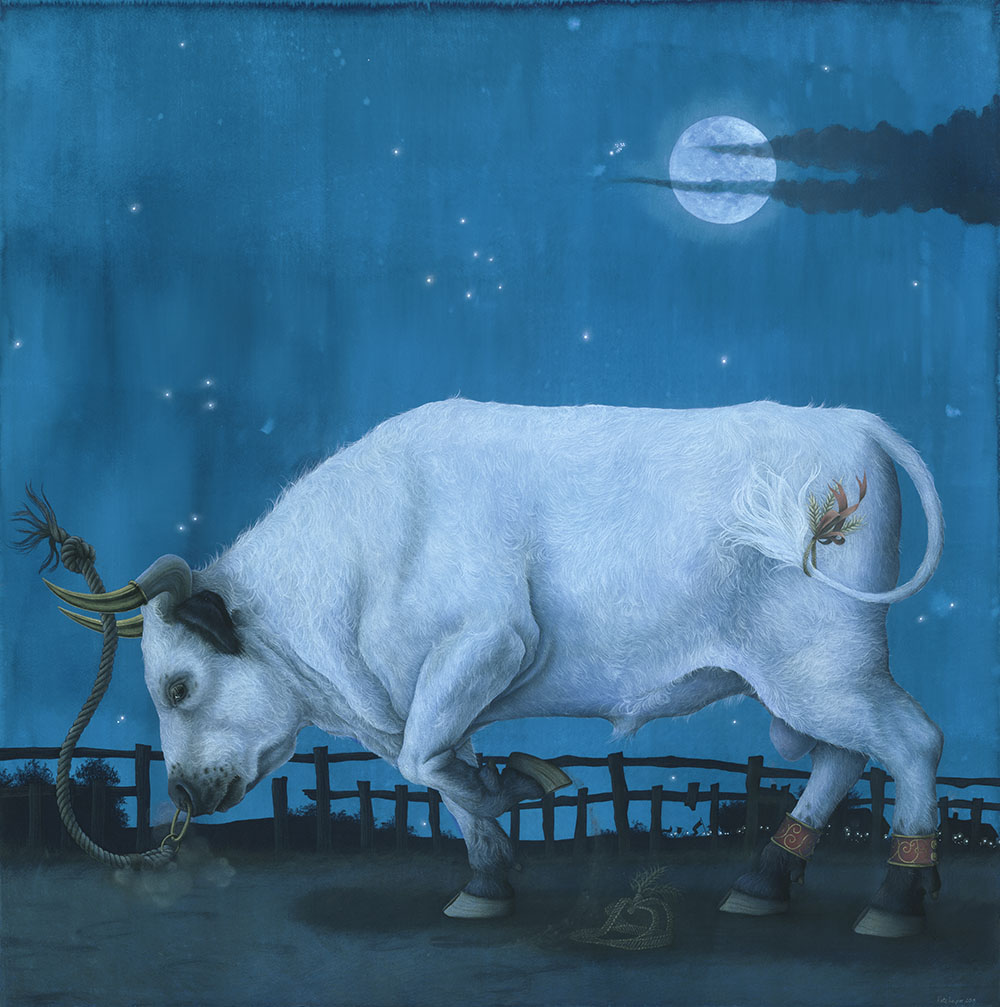 White Bull of Blickling by Kate leiper