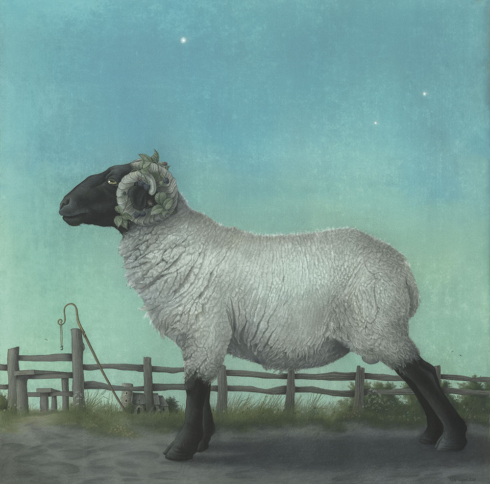 Ram in a Norfolk landscape