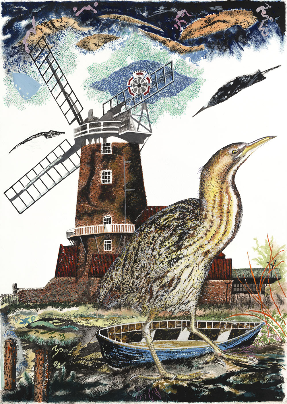 Cley Windmill and Bittern