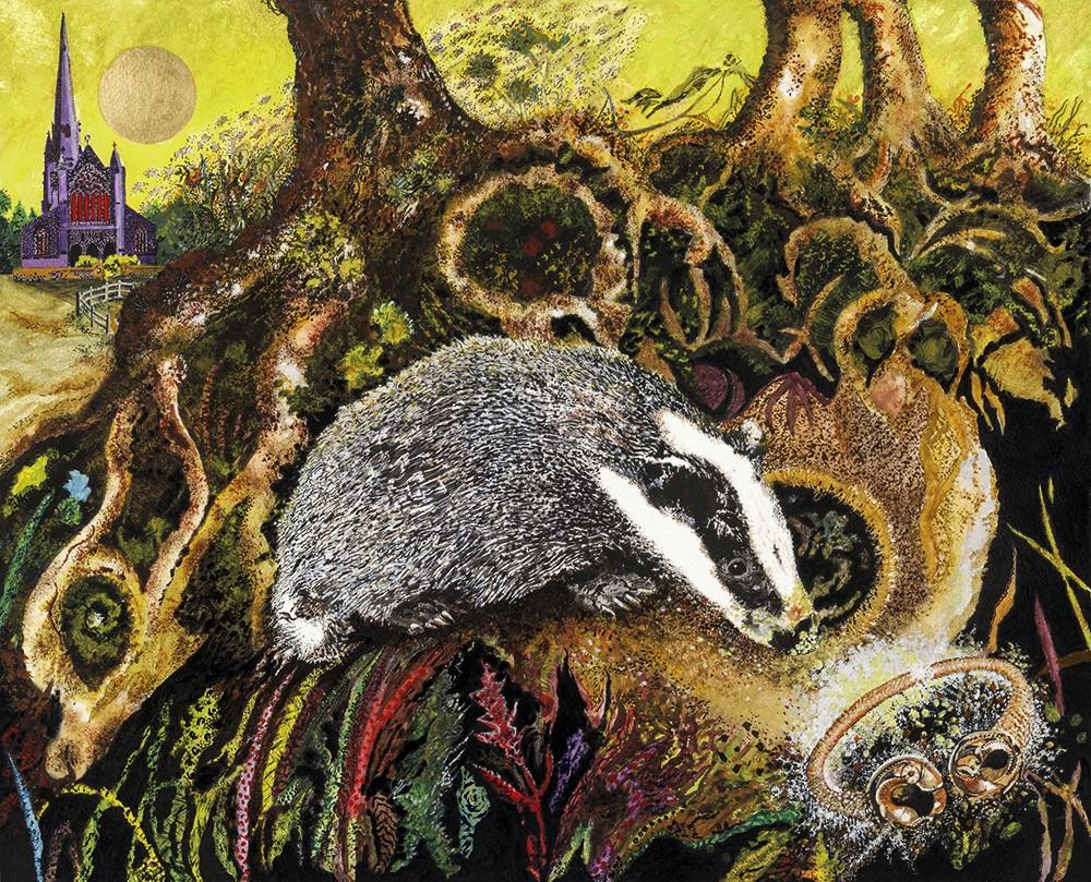 Badger finds Golden Torc at Snettisham