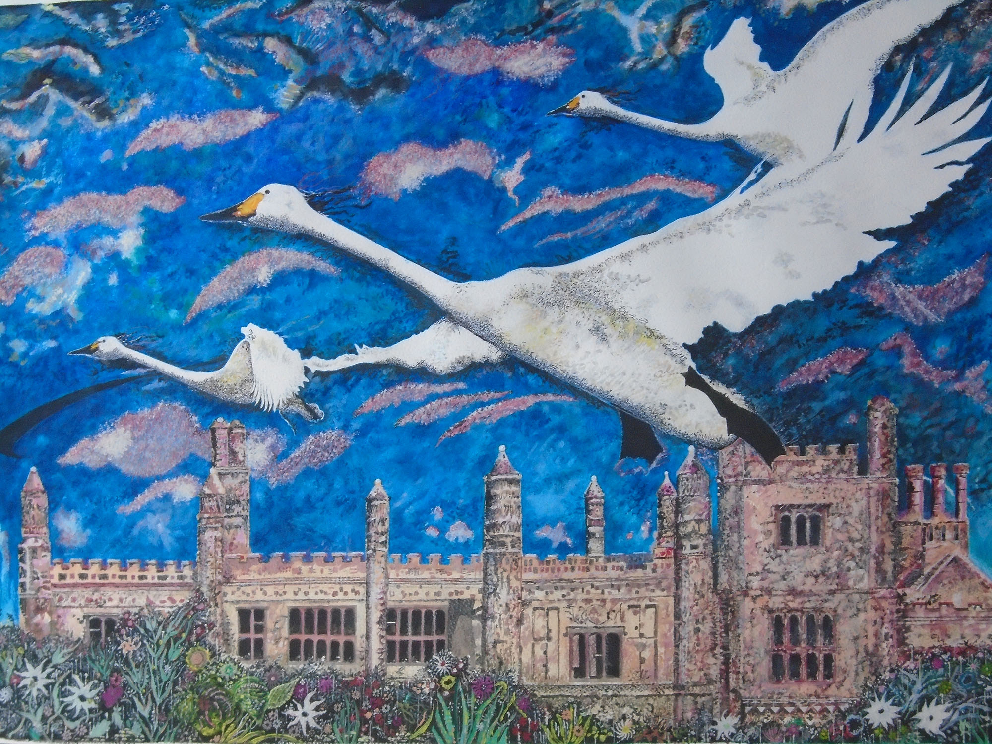 Barrie Morris original painting of East Barsham Manor