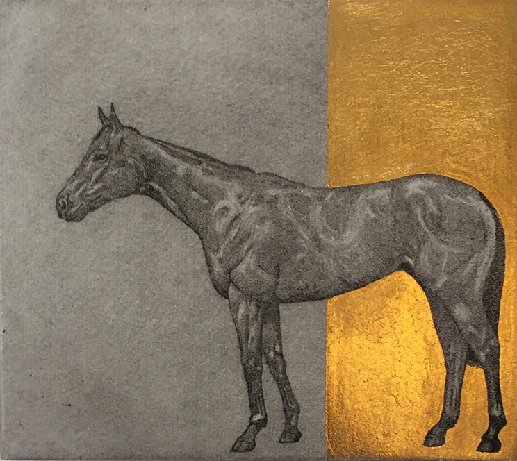 Little Horse Study Gold - Guy Allen