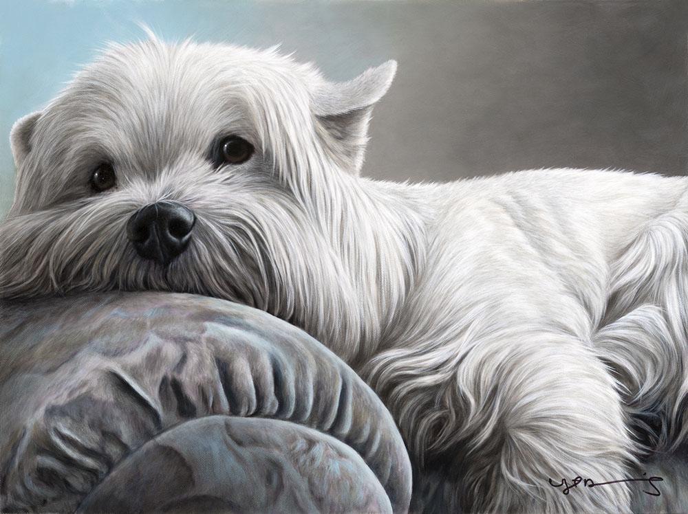Nigel Hemming portrait of a West Highland Terrier