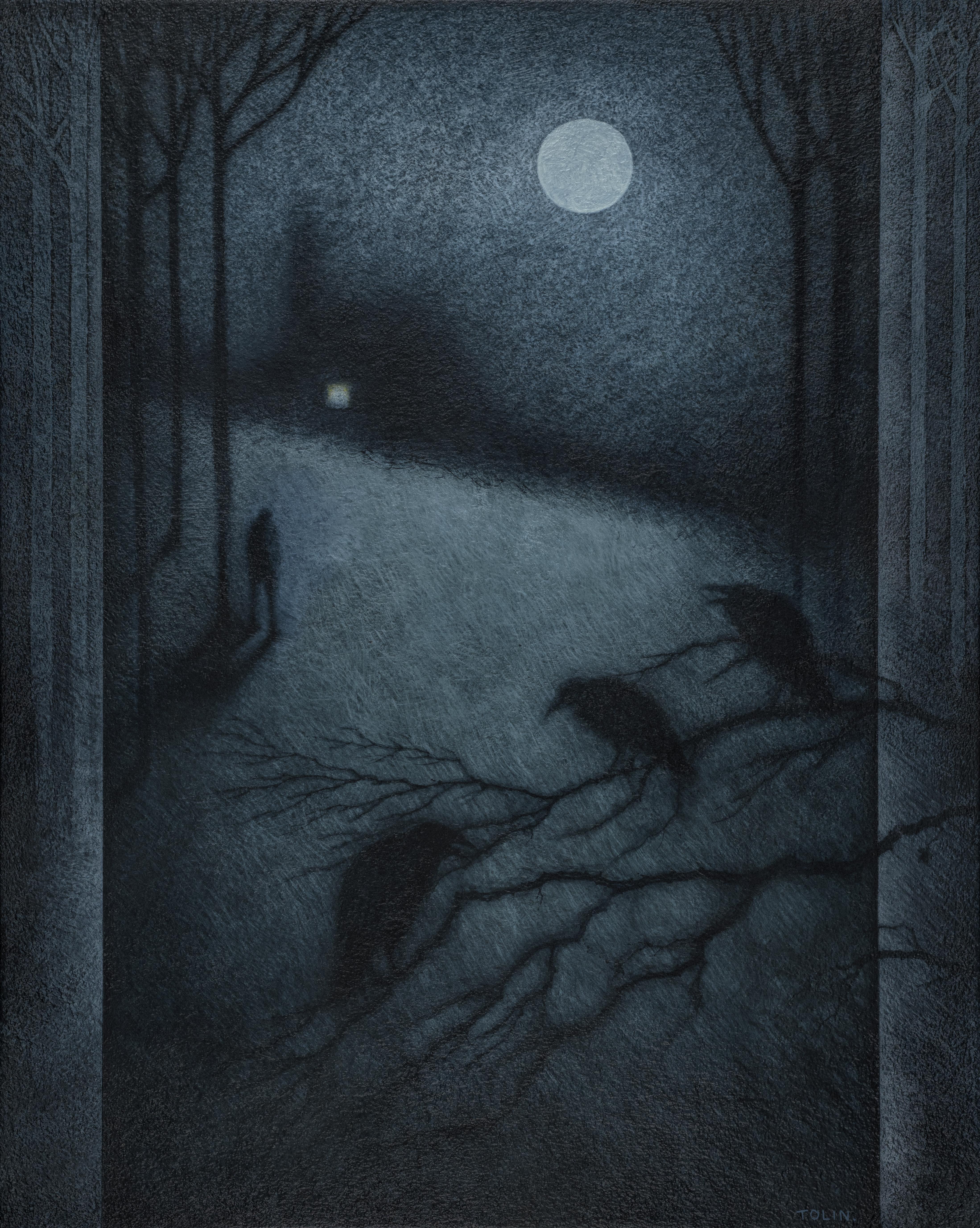Oil on Panel - Nocturne