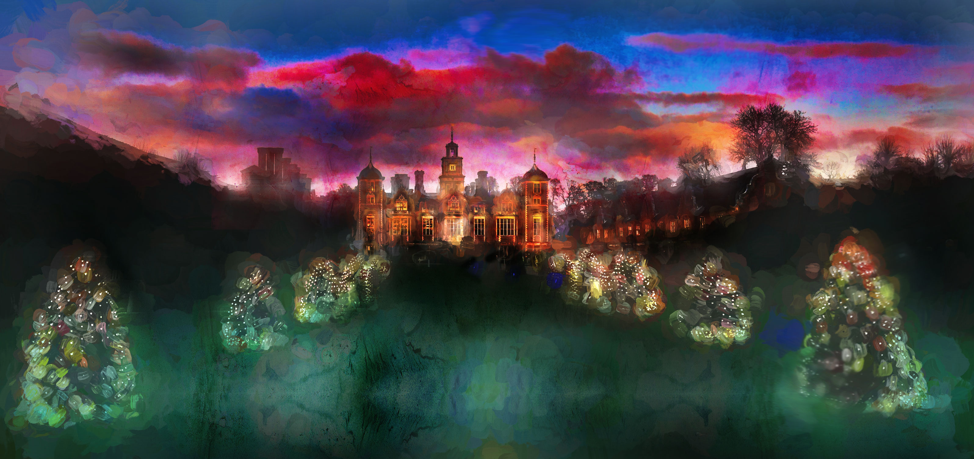 Walk Along in Twilight's Vibrance