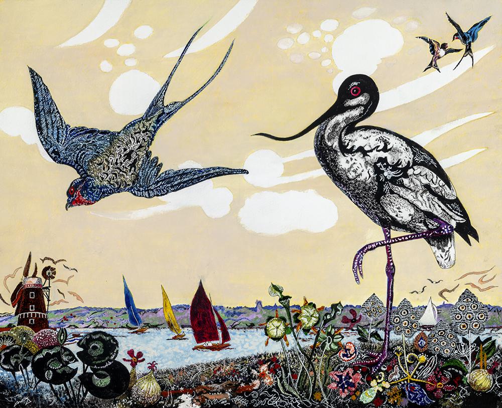 Swallows & Avocets at Cley